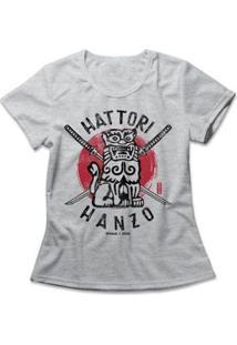 Camiseta Feminina Hattori Hanzo - Feminino-Mescla