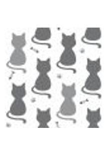 Papel De Parede Cats Gray