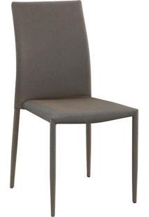 Cadeira Amanda Tecido Dourado Com Preto Rivatti Móveis