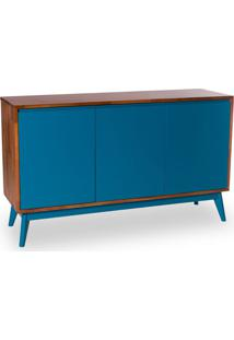 Buffet Safira 3 Pt Natural E Azul