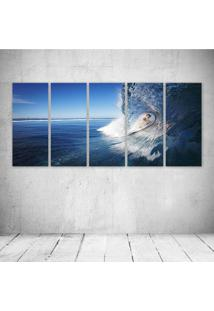 Quadro Decorativo - Female Surfer - Composto De 5 Quadros