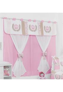 Cortina Para Quarto Bebê Coleção Princesa Casamax Enxovais Rosa