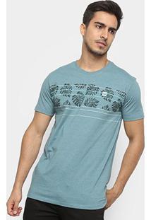 Camiseta Hang Loose Silk Leavstripe Masculina - Masculino-Azul