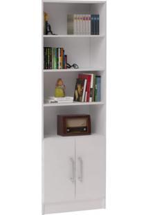 Estante Para Livros 2 Portas Office Brv Móveis Branco