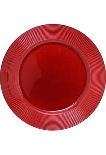 Sousplat Natal- Vermelho- 1,5Xã˜33Cm- Mabrukmabruk