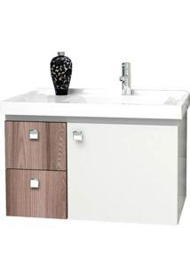 Gabinete Para Banheiro 60Cm Mdf Moara Tamarindo 59,6X38,3X35,4Cm - Cozimax - Cozimax