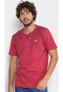 Camiseta Coca-Cola Folhagem Bambu Masculina - Masculino-Vermelho