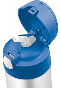Garrafa Térmica Infantil Funtainer 355Ml - Unissex-Cinza+Azul