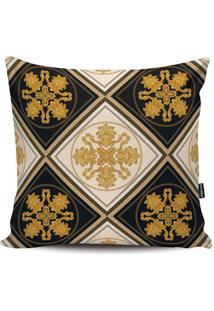 Capa Para Almofada Arabescos- Preta & Dourada- 45X45Stm Home