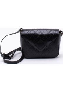 Bolsa Shoulder Bag Diamond Preta
