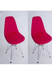 Kit Com 02 Capas Para Cadeira De Jantar Eiffel Wood Vermelho - Kanui