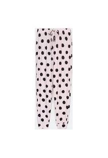 Calça De Pijama Com Estampa Poá | Lov | Rosa | P
