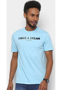 Camiseta T-Shirt Cavalera Estampada Masculina - Masculino-Azul