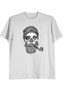 Camiseta Cnx Clothing Caveira Hipster Branca