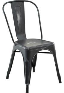 Cadeira Sem Braço Iron-Rivatti - Preto / Vintage