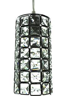 Lustre Pendente Diamante Iluminação Cd3235/1 Transparente Bivolt