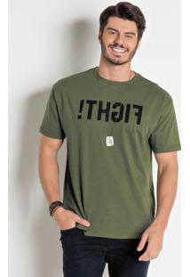 Camiseta Verde Militar Actual
