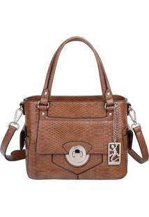 Bolsa De Mã£O Texturizada - Caramelo - 22X27X14Cmfellipe Krein