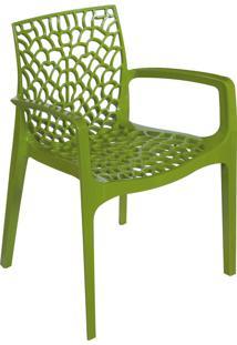 Cadeira Gruvyer Com Braço Verde Or Design