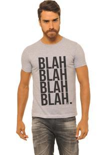 Camiseta Masculina Joss Blah Cinza