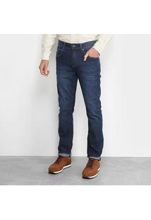 Calça Jeans Slim Lacoste Fit Masculina - Masculino-Azul Navy