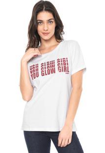 Camiseta Carmim Glow Girl Branca