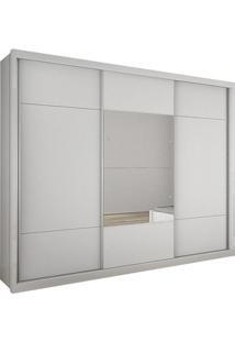 Roupeiro Novo Horizonte Arezzo Plus C/Espelho Branco