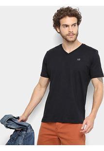Camiseta Ellus 2Nd Floor Básica Masculina - Masculino-Preto