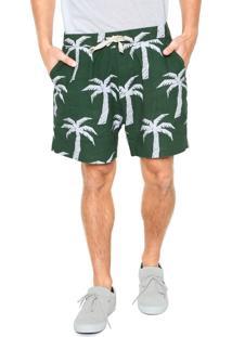 Bermuda Linho Osklen Tropical Verde