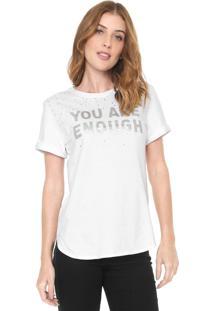 Camiseta Morena Rosa Hotfix Branca