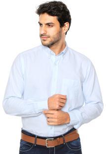 Camisa Sergio K Reta Oxford Azul
