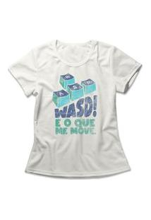 Camiseta Feminina Wasd Me Move Off-White