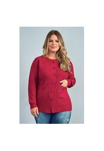 Casaco Bordado Feminino Plus Size Ref.51941