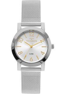 Relógio Technos Analógico 2035Mlq/1K Feminino - Feminino-Prata