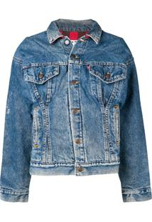 Re/Done Corset Denim Jacket - Azul