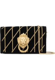 Moschino Clutch 'Lion Head' - Preto
