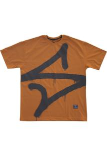 Camiseta Simple Skateboard Pixo Caramelo