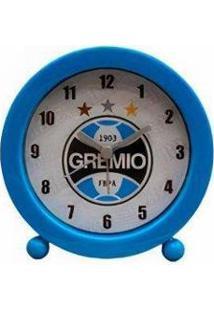 Relógio Despertador Redondo Grêmio - Unissex