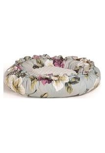 Puff Boia Maior Floral Almofada Branca 70Cm - 62325 Branco