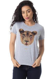 Camiseta Familia Leoa Thiago Brado 6027000001 Cinza - Cinza - Feminino - Dafiti