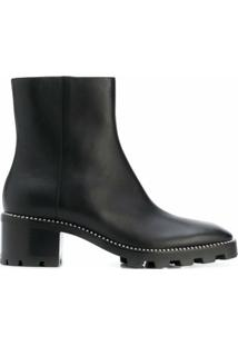 Jimmy Choo Ankle Boot Mava Com Salto 35Mm - Preto