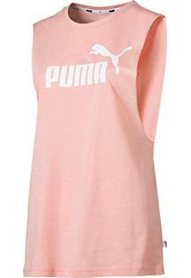 Regata Puma Essentials+ Cut Off Tank - Unissex-Rosa