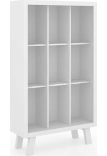 Estante Para Livros Me4121 Branco/Branco - Tecno Mobili