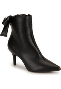 Ankle Boots Salto Fino Lara Laço
