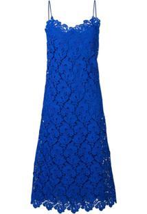 Ermanno Scervino Vestido De Renda Floral - Azul