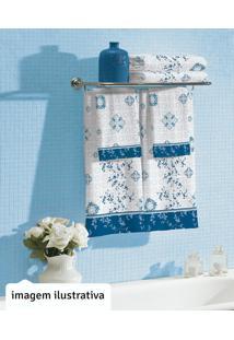 Jogo De Banho Com 4 Pçs Safira Azul - Lepper