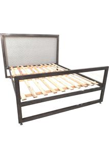 Cama Queen Industrial– Oficina Barnello - Natural