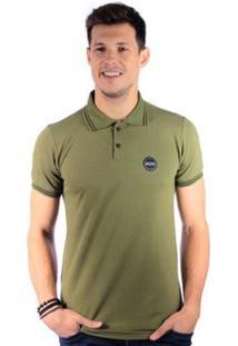 Camisa Polo Long Island Sb - Masculino-Verde Militar