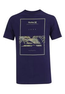 Camiseta Hurley Silk Chasing Paradise - Masculina - Roxo