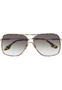Victoria Beckham Óculos De Sol Vb132S - Marrom
